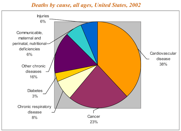 Deaths by Obesity / Overweight / Chronic Diseases, Obesity in USA